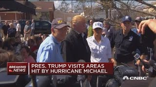 President Trump visist areas hit by Hurricane Michael