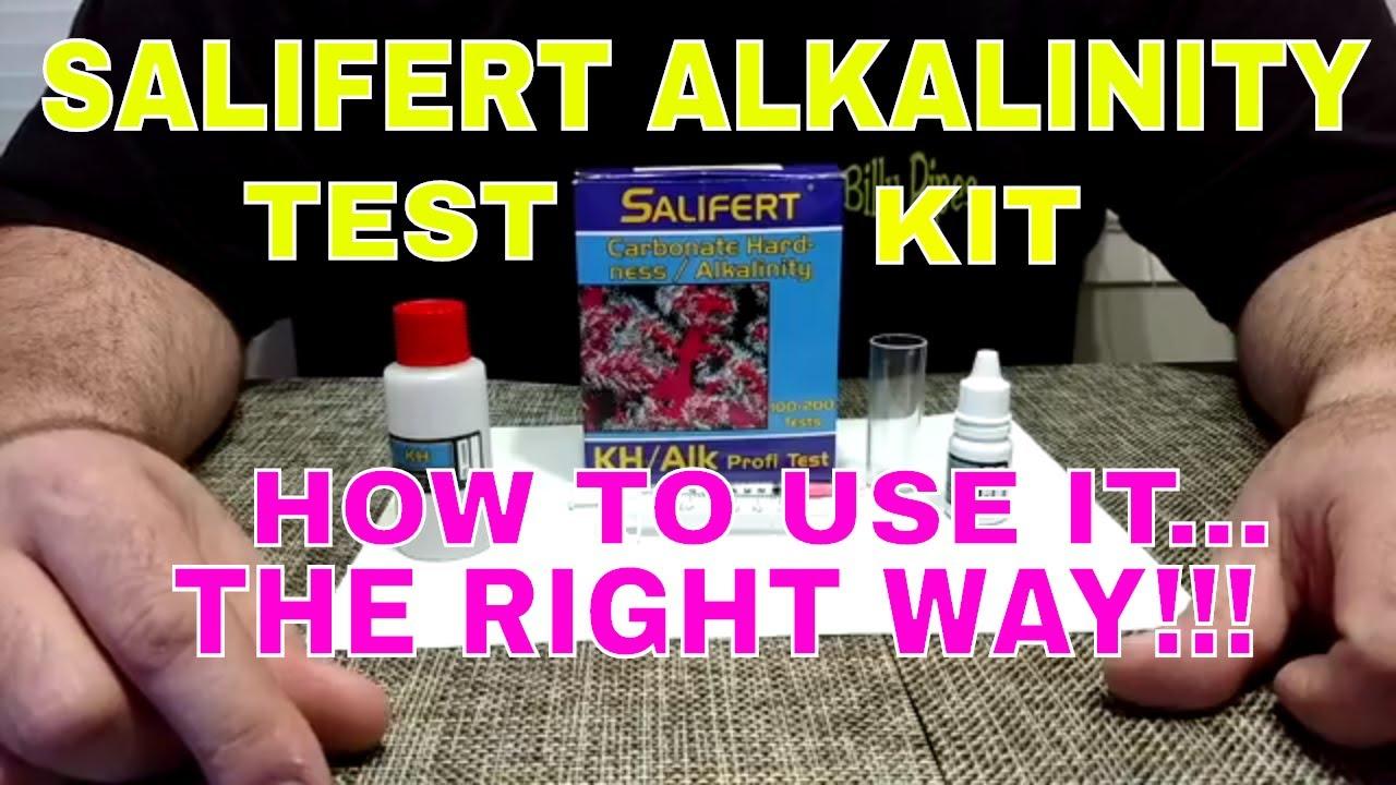 Salifert Alkalinity Test Kit How To Use It The Right Way Youtube
