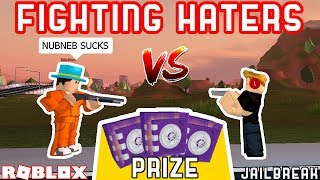 JAILBREAK 1v1 AGAINST MY HATERS!! *WINNER GETS PURPLE CRATE* | Roblox Jailbreak