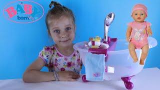 Бебі Бон Ванна. Розпакування та огляд Ванночки для Бебі Борн відео для дітей. Baby Born Doll Bath