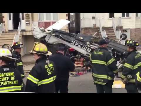 Small Plane Crashes on a Residential Street in Bayonne, New Jersey