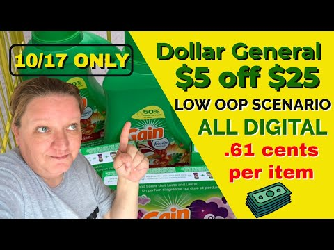 DOLLAR GENERAL ALL DIGITAL SCENARIOS 10/17 // ITEMS FOR JUST 61 CENTS!!! // SUPER LOW OOP