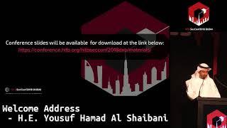 #HITB2018DXB: Welcome Address - H.E. Yousuf Hamad Al Shaibani