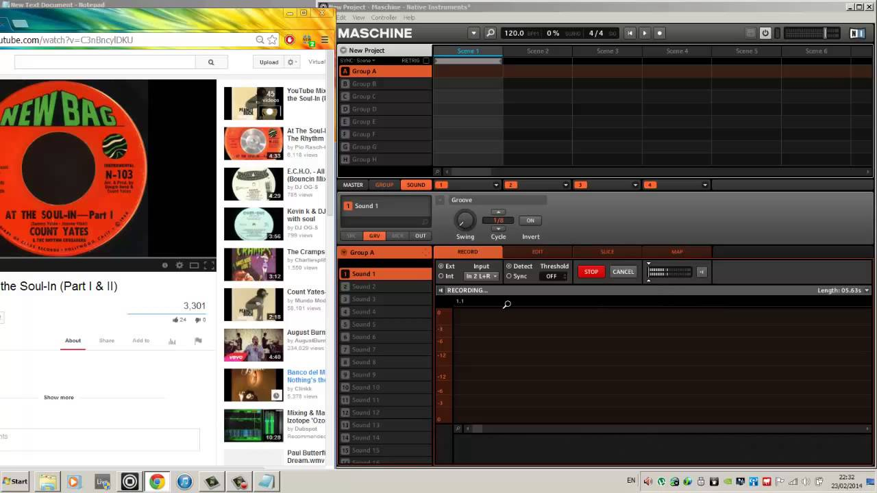 How to sample youtube & mp3 using Maschine on Windows - YouTube