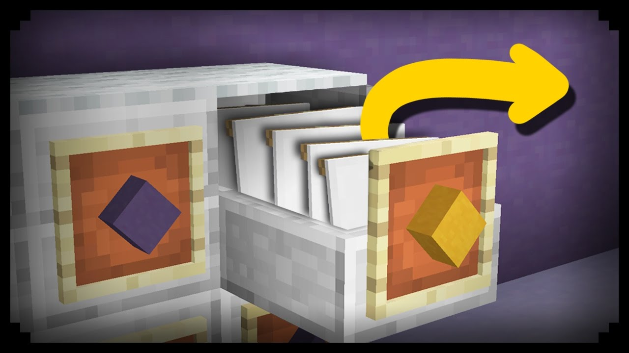 Minecraft How to make a Working Filing Cabinet  YouTube
