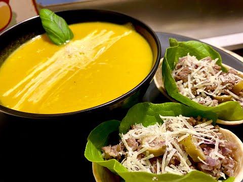 soupe-de-légumes-avec-mini-tortillas-à-la-viande-hachée