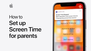 Get to know Screen Time for parents on iPhone, iPad, and iPod touch — Apple Support