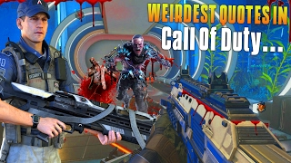 WEIRDEST QUOTES IN CALL OF DUTY… (Advanced Warfare Exo Zombies Funny Moments) - MatMicMar