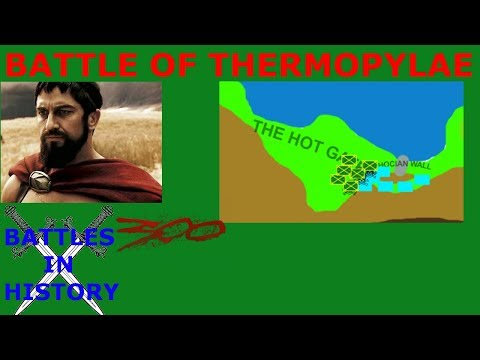The Battle of Thermopylae - Second Persian Invasion of Greece (480 BCE)