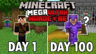 I Survived 100 Days in Mega Ultra Hardcore Minecraft... Minecraft Hardcore 100 Days