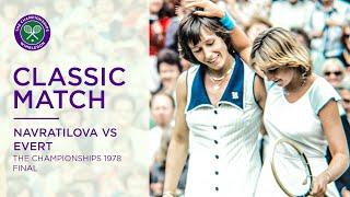 Martina Navratilova Vs Chris Evert   Wimbledon 1978 Final   Full Match
