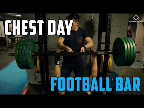 Chest & Triceps | Football Bar Bench Pressing