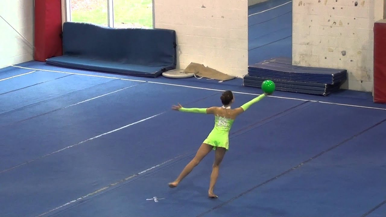 kayla rhythmic gymnastics practice ball 2 routine youtube