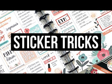 Sticker Tips and Tricks // Layering and Cutting Stickers in Your Planner!