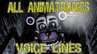 Five Nights at Freddy's Sister Location: All Animatronics Voice Lines