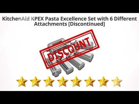 KitchenAid KPEX Pasta Excellence Set with 6 Different Attachments  | Review and Discount