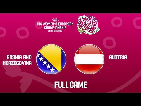 Bosnia And Herzegovina V Austria - Full Game - FIBA U16 Women's European Championship Div. B 2019