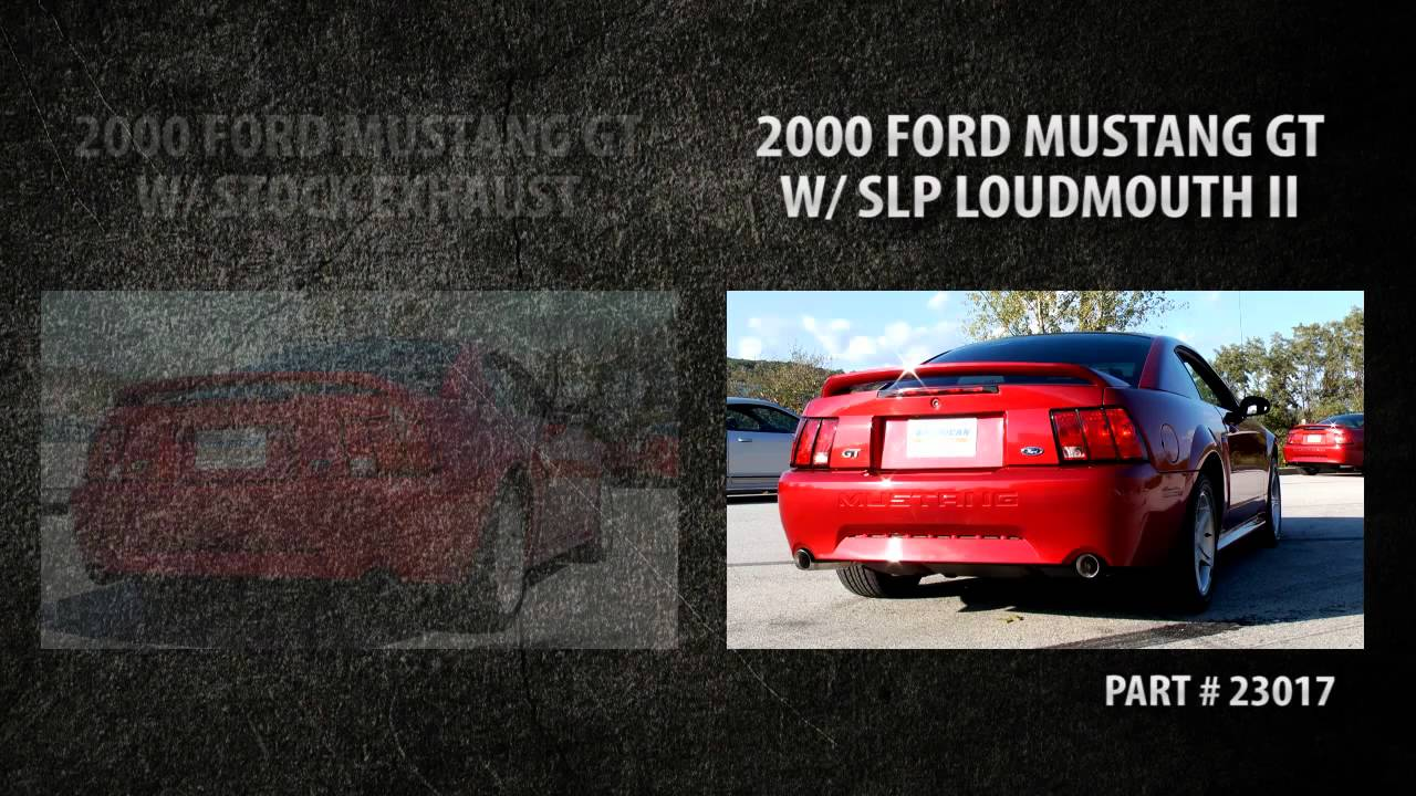 Slp Loudmouth Ii Vs Stock Exhaust 1999 2004 Ford