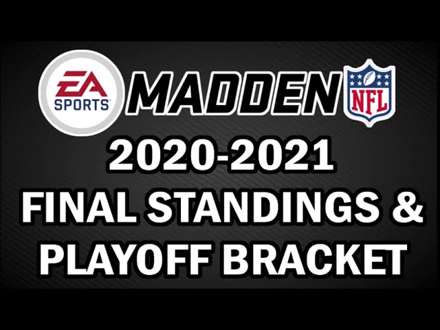 Final 2020 2021 Nfl Standings From Our Madden Sims Playoff Bracket Youtube