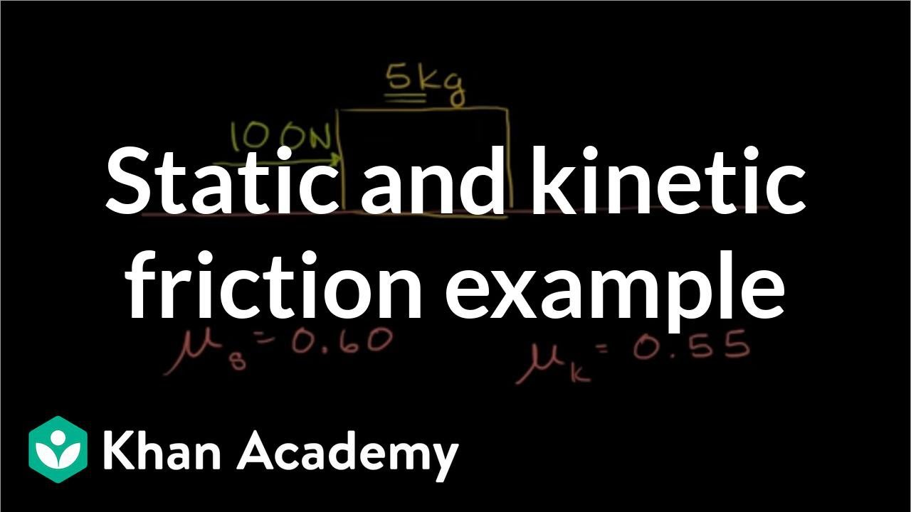 Static and kinetic friction example (video) | Khan Academy