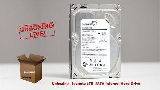 Unboxing - Seagate 3TB  SATA Internal Hard Drive