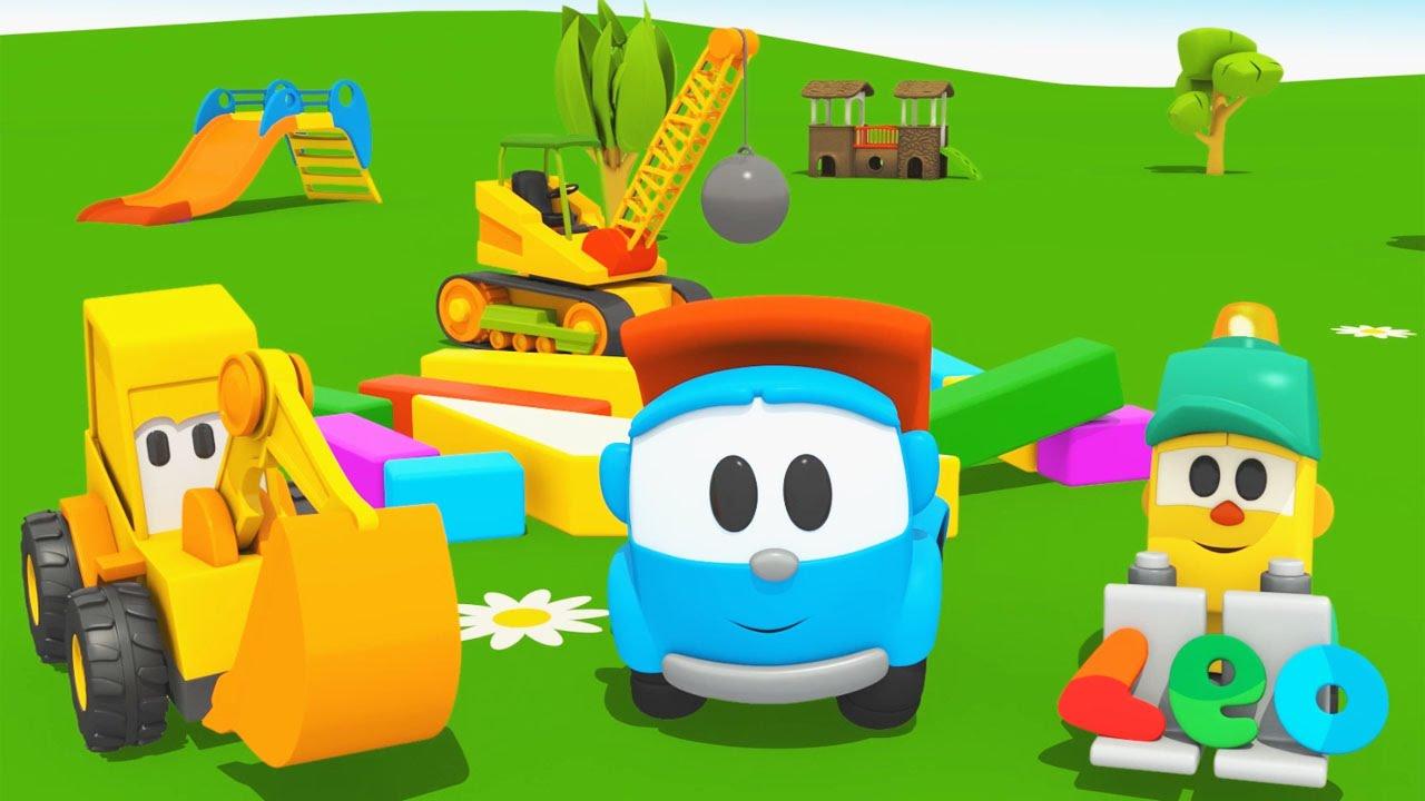 Cartoni animati per bambini leo junior e il grande