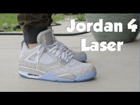 ba7f17d7031101 Air Jordan 4 Laser On Feet - YouTube
