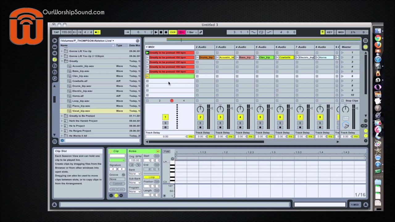 How to set up backing tracks in Ableton Live - YouTube