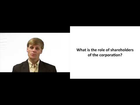 Rights of Shareholders of the Corporation