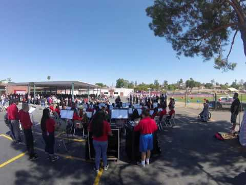 Lake Elsinore Middle School Band Plays Tribute to the Armed Forces 9-9-16