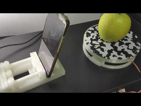 AAScan: Open source, minimalist, fully automated 3D scanner based on Arduino and Android!