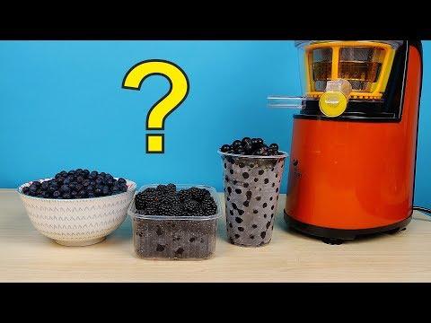 Какой сок будет самый черный? Черника, ежевика или смородина? Бедная соковыжималка! alex boyko