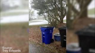 Hail in Florence, Alabama