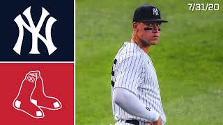 New York Yankees Vs. Boston Red Sox | Game Highlights | 7/31/20