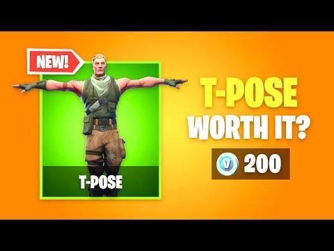 Is T-POSE Emote Worth It? New Fortnite Item Shop