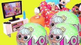 #LOL Surprise Видео для Детей #Barbie Movies ВЕЧЕР С КИНО У КУКОЛ ЛОЛ! Мультики для Детей #ПУПСИКИ