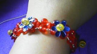 DIY,cara membuat gelang sederhana dari manik-manik-how to make a simple bracelet of beads