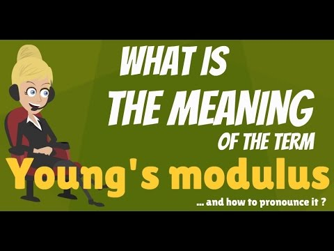 What is YOUNG'S MODULUS? What does YOUNG'S MODULUS mean? YOUNG'S MODULUS meaning
