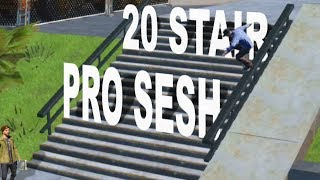 20 Stair Session w/ the Pros - Skate 3