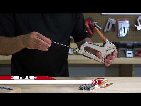 How to Load Arrow's T25 Staple Gun