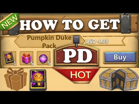 How To Get Pumpkin Duke In Castle Clash ! FINALLY #THANKSIGG