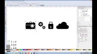 Monochrome Icons - Inkscape Tutorials - Part 1 Camera Icon