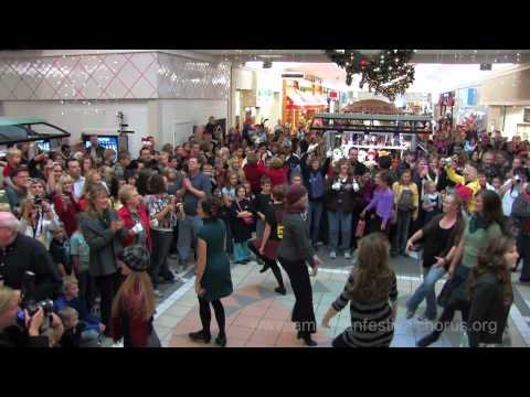 Holiday Christmas Music Flash Mob of the American Festival Chorus at Cache Valley Mall