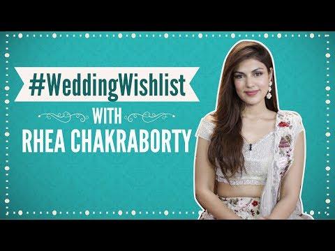 #WeddingWishlist with Rhea Chakraborty| Pinkvilla| Fashion| Bollywood