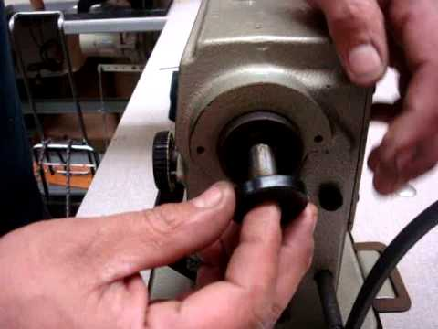 Juki DDL-5550 How to change the pully rubber