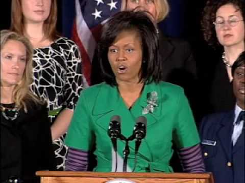 Michelle Obama Visits Homeland Security 4/14/09