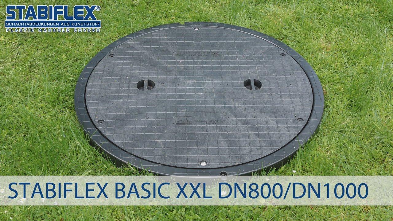Schachtabdeckung STABIFLEX BASIC XXL DN 800 / DN 1000 Einbaufilm ...
