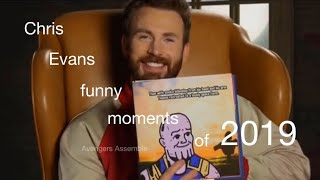 Chris Evans funny moments of 2019