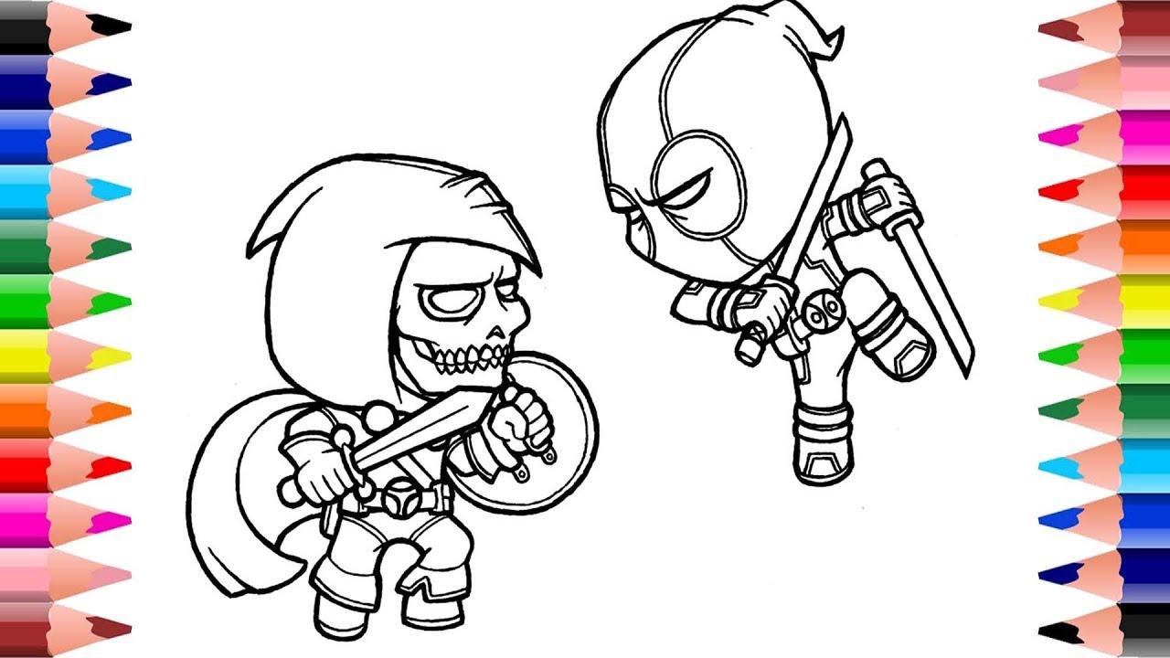 Death Vs Deadpool Coloring Pages Coloring Mavel Deadpool Superheroes Coloring Pages Youtube