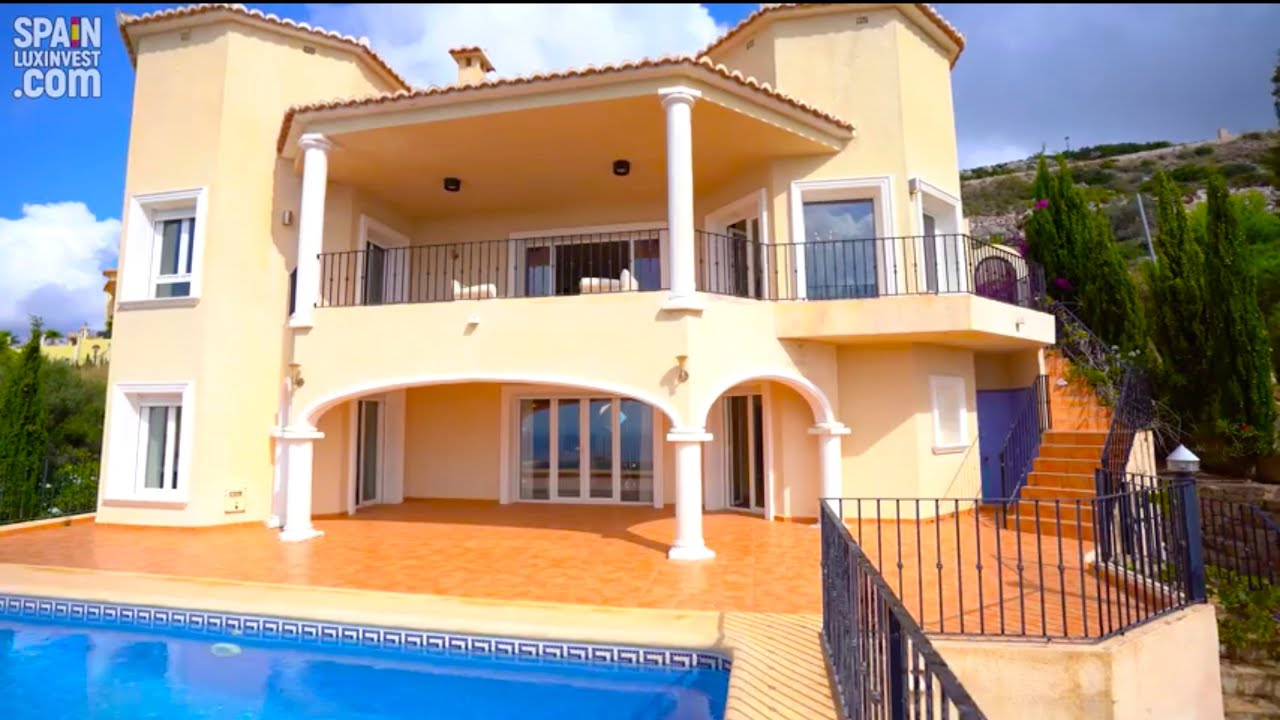 🔴832000€/Новая вилла в Испании/Дом с видом на море в классическом стиле в Кумбре дель Соль/Морайра